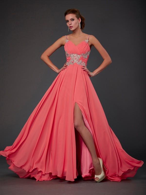 A-Line/Princess Sleeveless Scoop Lace Short Chiffon Dresses