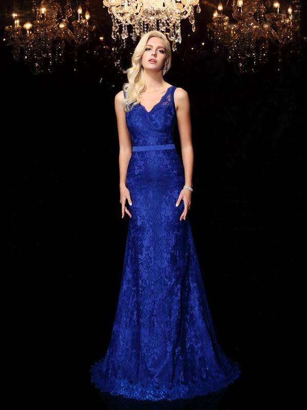 Sheath/Column Straps Lace Satin Dress
