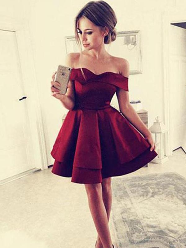 A-Line With Satin Sleeveless Short/Mini Dress