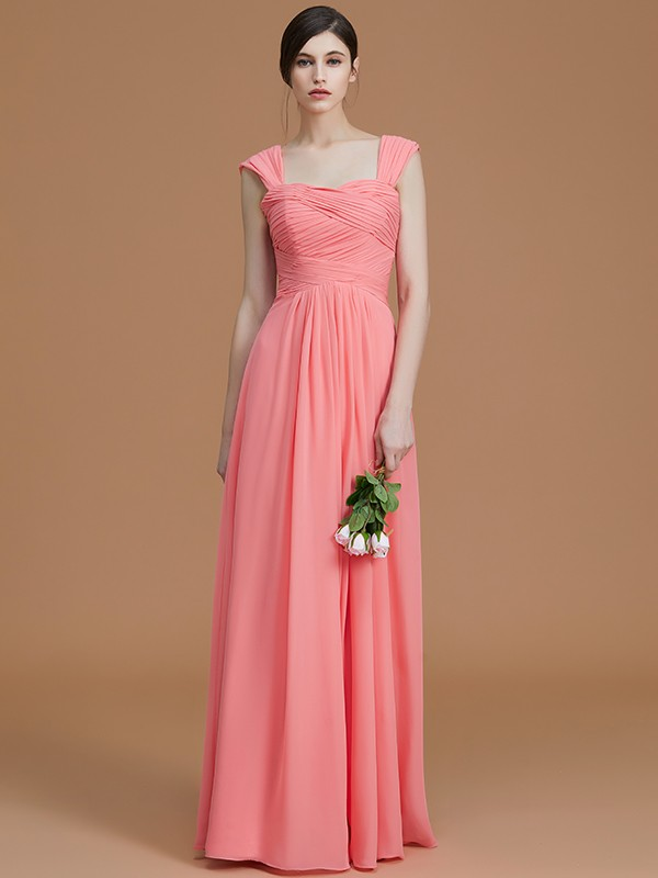 A-Line/Princess Sweetheart Floor-Length Chiffon Ruched Bridesmaid Dresses