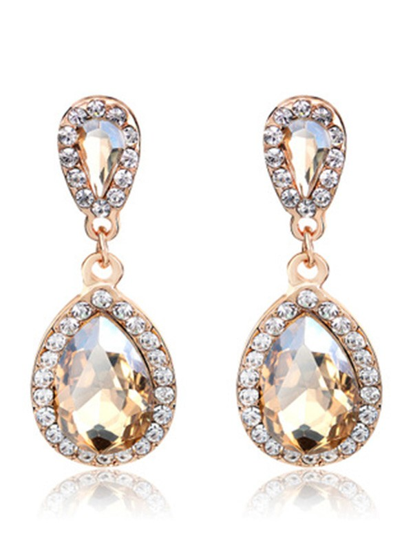 Vintage Alloy With Rhinestone Earrings
