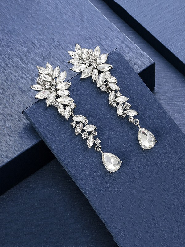 Unique Crystal Long Earrings