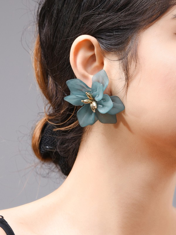 Fashion Acrylic With Flowers Earrings