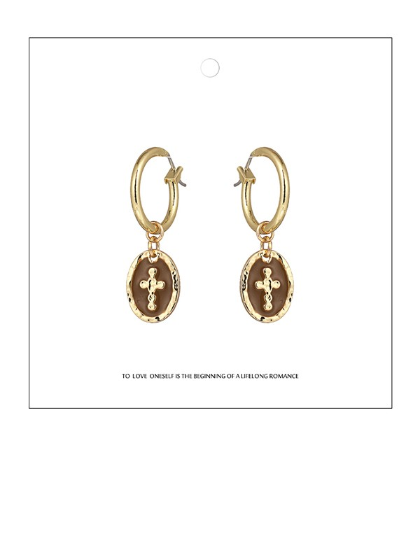 Delicate Zinc Alloy With Cross Earrings