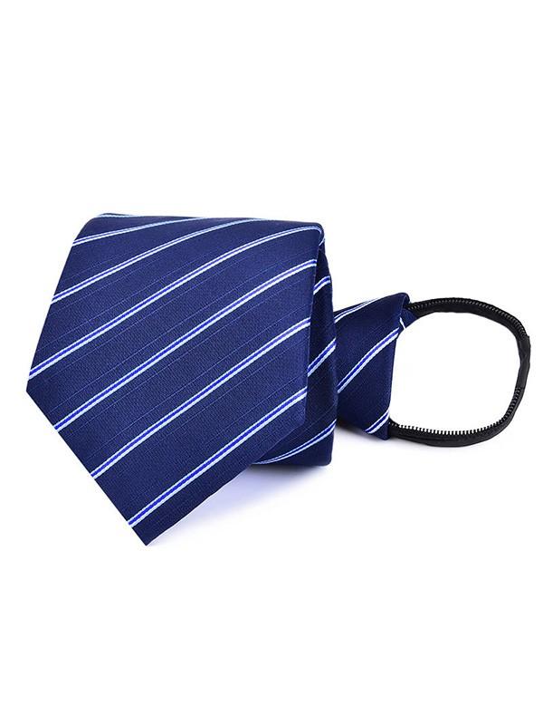 Vintage Polyester Striped Tie