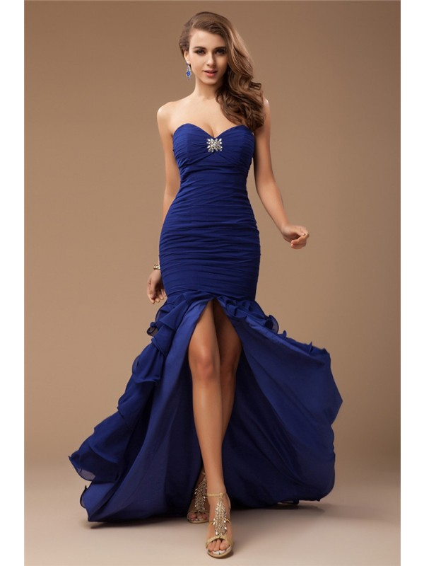 Trumpet/Mermaid Sweetheart Ruffles Chiffon Dress