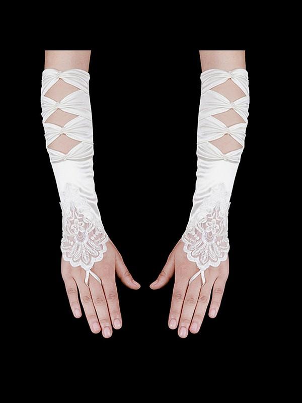 Beautiful Cloth Wedding Gloves