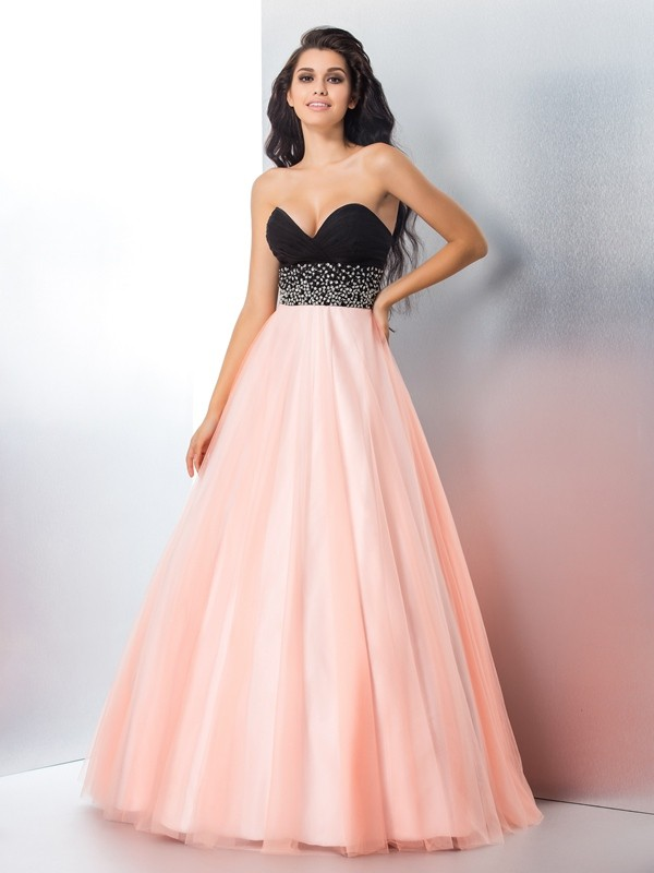 64677526df Ball Gown Sweetheart Beading Satin Quinceanera Dress - DylanQueen
