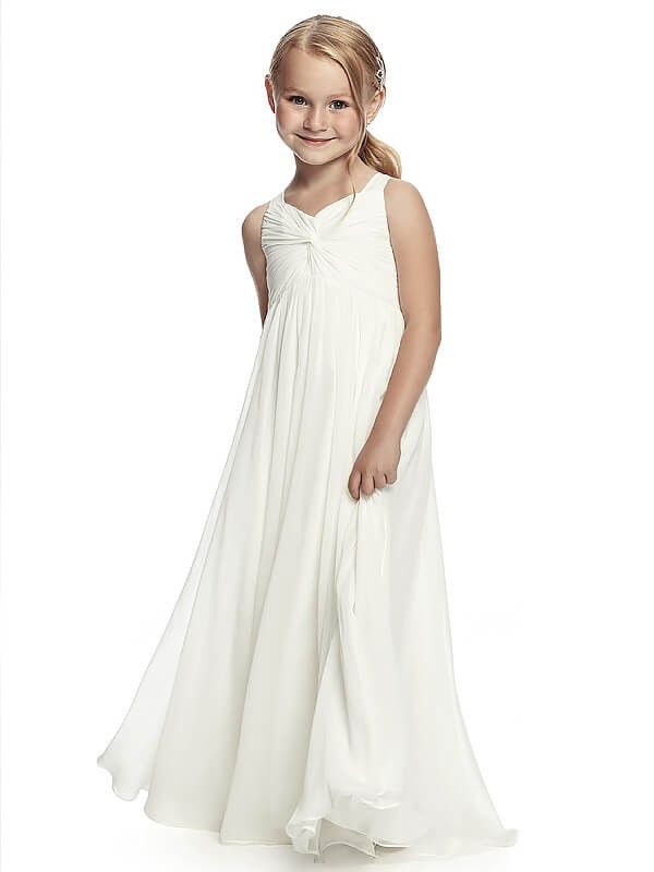 5103cb045c6 A-Line Princess Straps Ruched Floor-Length Chiffon Flower Girl Dress ...