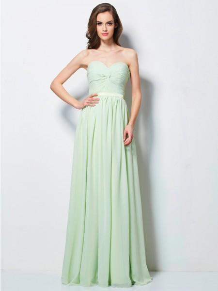 A-Line/Princess Sweetheart Pleats Dress with Chiffon