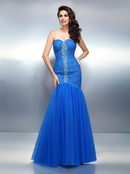 Trumpet/Mermaid Sweetheart Long Satin Dress