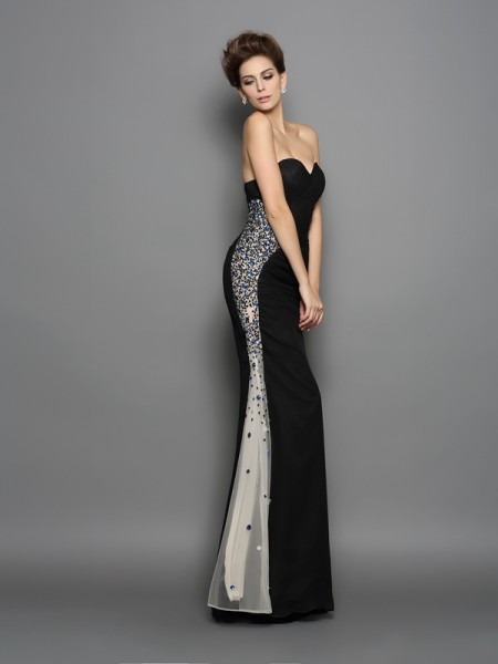 Trumpet/Mermaid Sweetheart Ruched Dress with Long Chiffon
