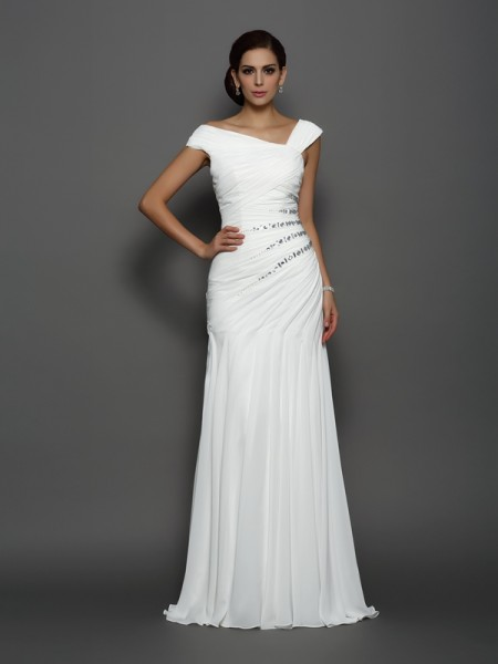 Trumpet/Mermaid Beading Dress with Long Chiffon