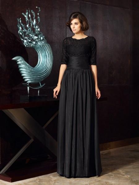 A-Line/Princess Sweetheart Applique Long Taffeta Mother of the Bride Dress