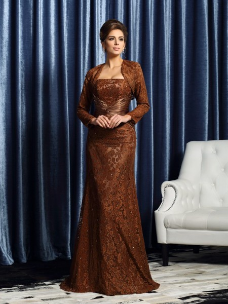 Sheath/Column Strapless Long Silk like Satin Mother of the Bride Dress