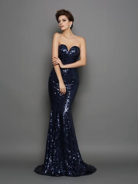 Trumpet/Mermaid Sweetheart Sequin Long Sequins Dress