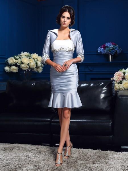 Sheath/Column Sweetheart Short Taffeta Mother of the Bride Dress