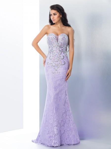 Trumpet/Mermaid Sweetheart Beading Lace Dress