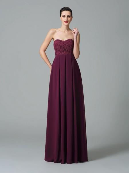 A-Line/Princess Sweetheart Ruffles Chiffon Bridesmaid Dress