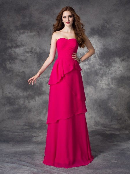 A-line/Princess Sweetheart Layers Chiffon Bridesmaid Dress