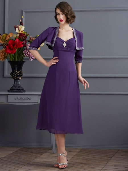 Elegant Chiffon 1/2 Sleeves Special Occasion Wrap