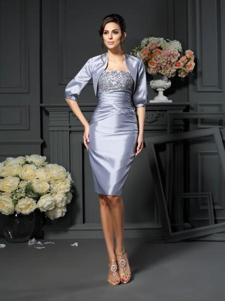 Elegant Taffeta 1/2 Sleeves Special Occasion Wrap
