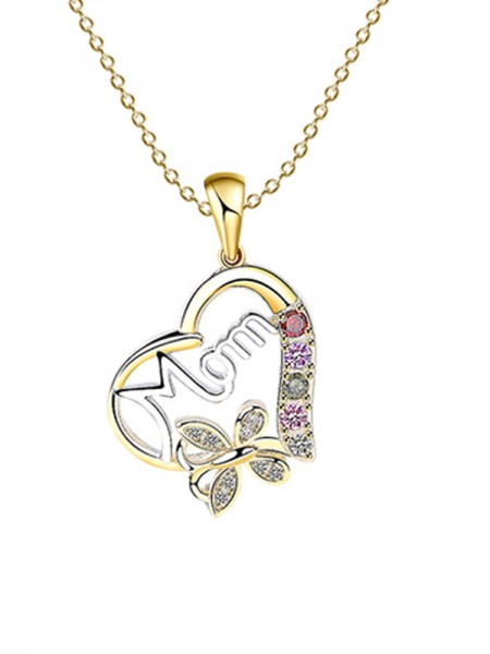 Fashion Copper With Heart Necklaces For Mother