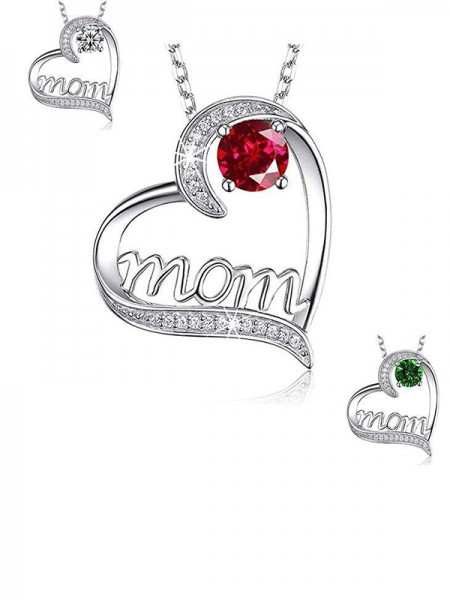 Charming Alloy With Zircon Necklaces For Mother