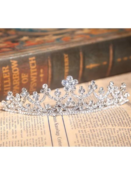 Bright Alloy Rhinestone Wedding Headpieces
