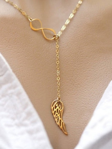 Gorgeous Alloy With Wing Necklaces