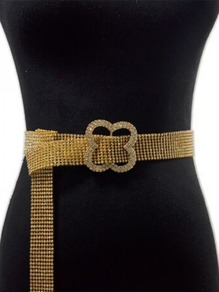 Attractive Alloy Sashes With Rhinestones