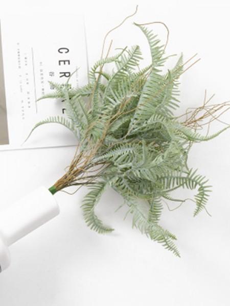 Unique Artificial Green Fern Decorations(2 Bunches)