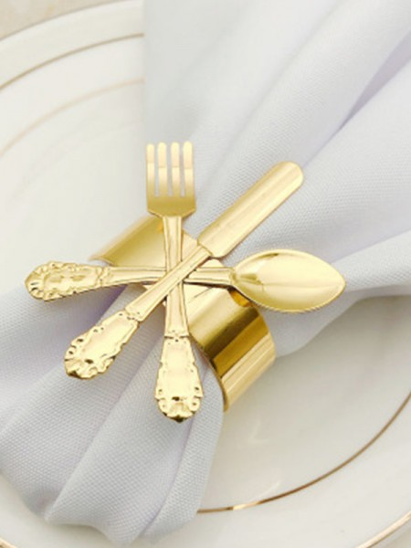 Delicate Metal Napkin Rings(6 Pieces)