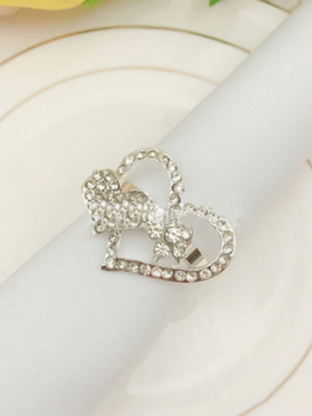 Pretty Alloy With Rhinestone Napkin Rings(12 Pieces)