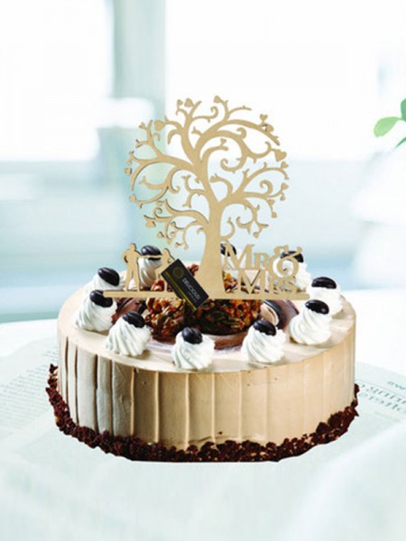 Delicate Wooden Cake Topper