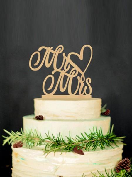 Unique Wooden Cake Topper