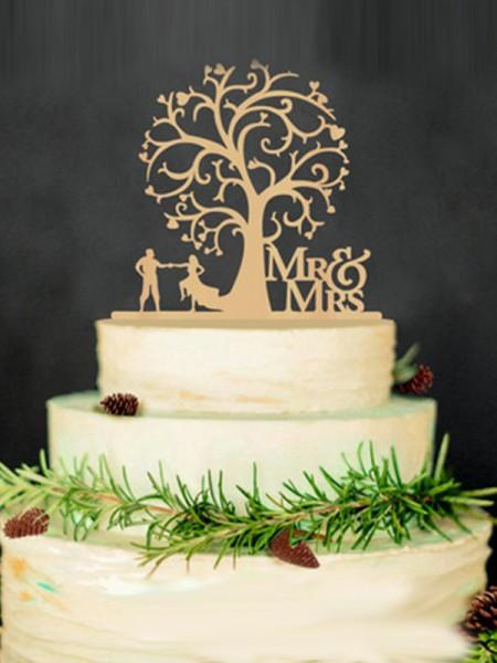 Lovely Wooden Cake Topper