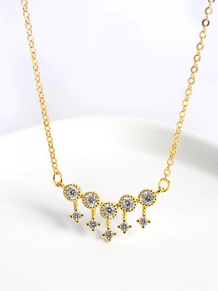 Gorgeous S925 Silver Rhinestone Necklaces