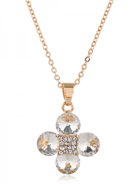 Charming Rhinestone With Flowers Bridal Jewelry