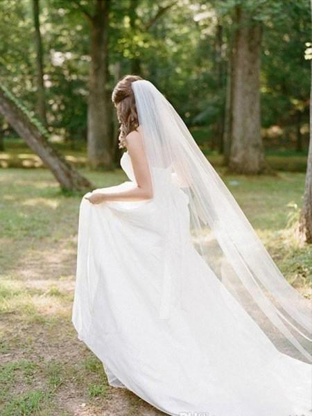Tulle Long Wedding Veils