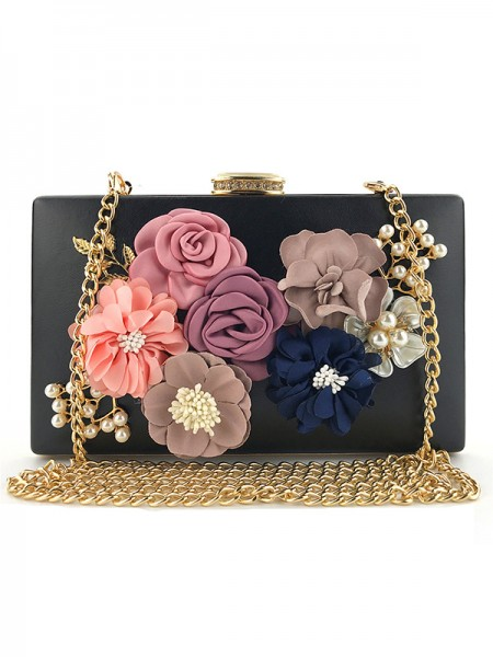 Elegant PU Bags With Flower