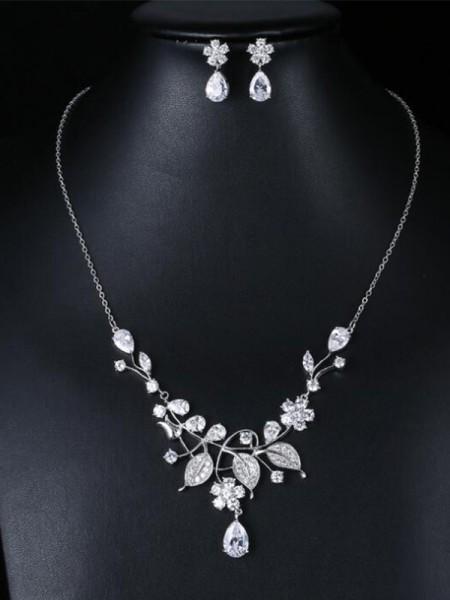 Occident Zircon Fashion Bridal Jewelry
