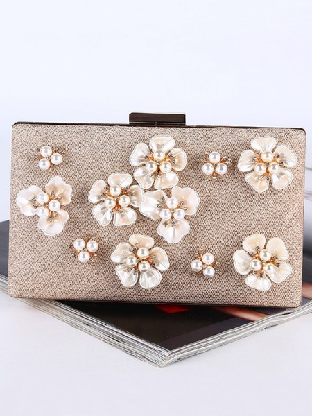 Graceful Pearl Flower Handbags