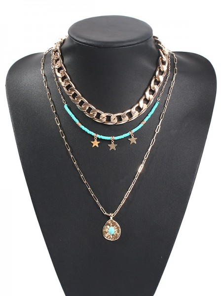 Pretty Alloy With Star Hot Sale Necklaces