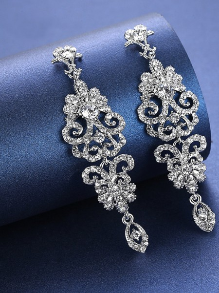 Charming Rhinestone Earrings For Wedding Bridal