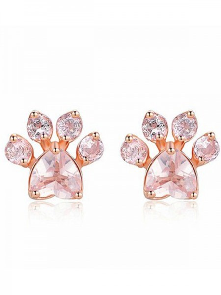 Brilliant Alloy With Zircon Earrings