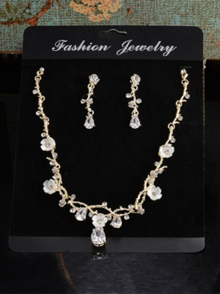 Unique Alloy With Rhinestone Jewelry