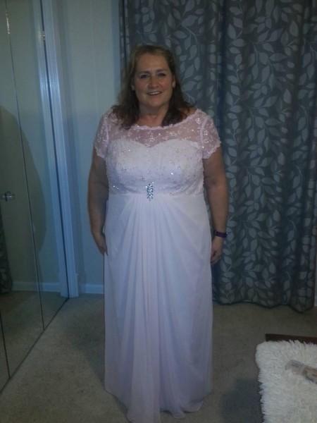 A-Line/Princess Sheer Neck Floor-Length Chiffon Mother Of The Bride Dresses