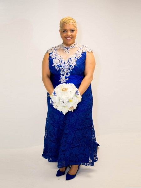 A-Line/Princess Sheer Neck Asymmetrical Elastic Woven Satin Applique Mother of the Bride Dresses