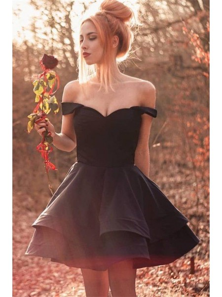 A-Line/Princess Spandex Ruffles Sleeveless Short/Mini Homecoming Dresses